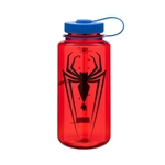 Red Bottle With Spider-Man Logo And Blue Cap