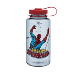 Gray Bottle With Spider-Man And Red Cap